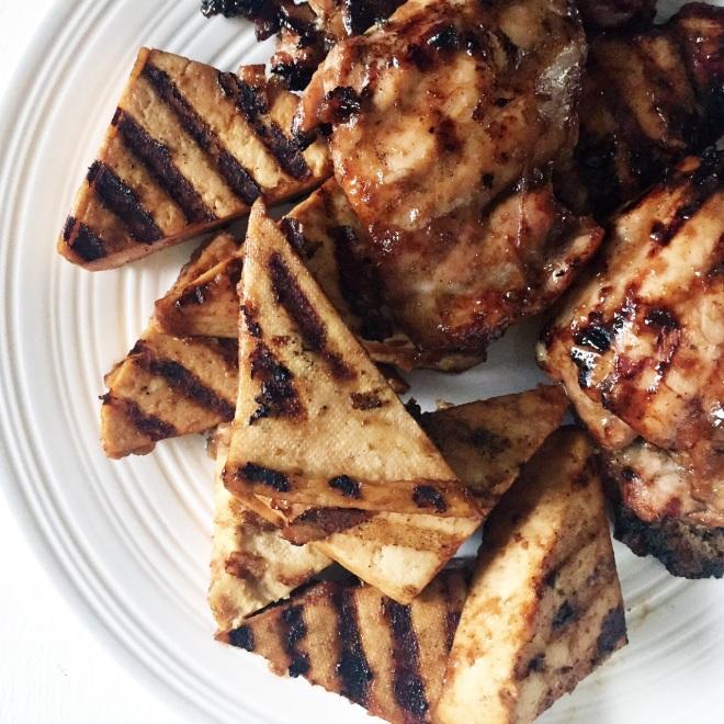 Asian Sesame Hoisin Chicken and Tofu