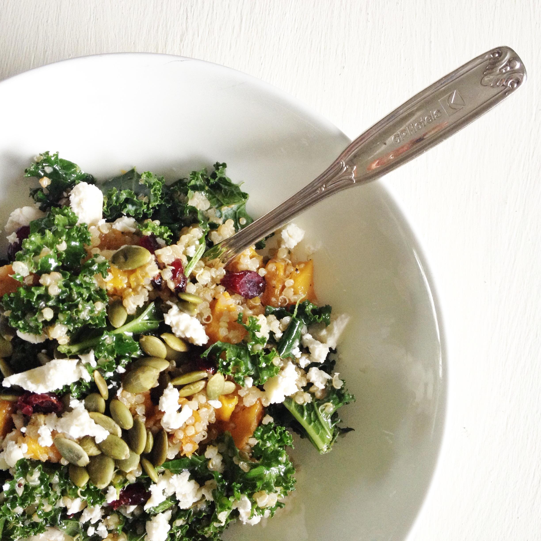 Roasted Pumpkin, Kale and Quinoa Salad (Gluten-Free) - Fraiche ...