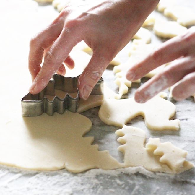 Shortbread cookie preparation