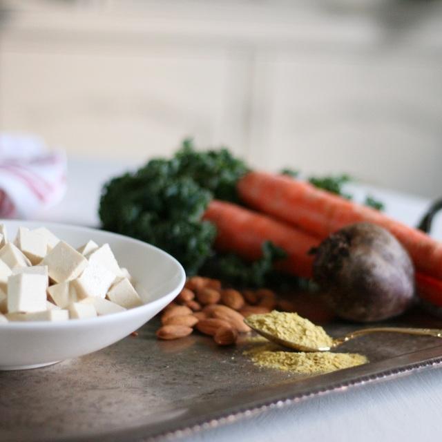 Kale Tofu Glory Bowl ingredients
